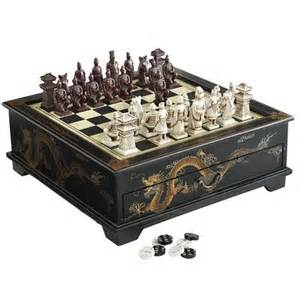 Dragon Chess Set by Black Dragon Chess Amp Checker Set Pier 1 Imports
