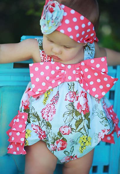 Romper Baby Romper Sweet Mo serendipity sweet clementine floral baby romper