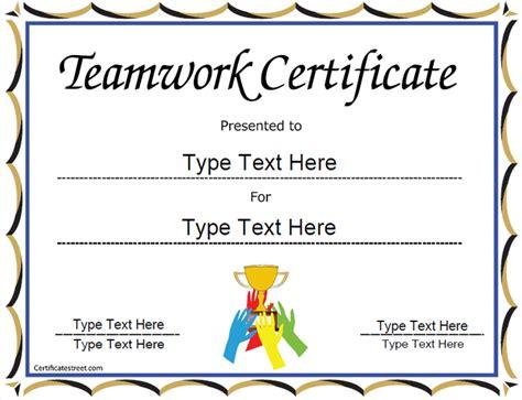 appreciation letter team player special certificate team work certificate