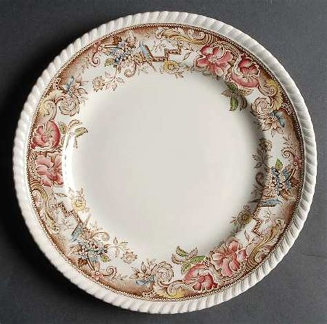 brown pattern china johnson brothers devonshire brown multicolor at