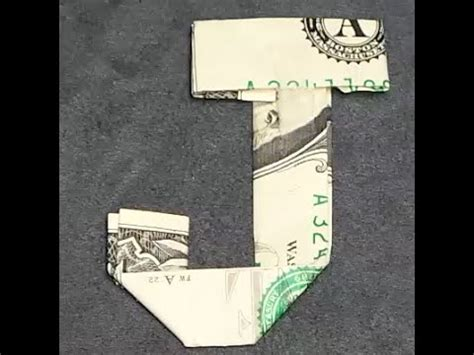 Dollar Bill Origami Letters - fold origami dollar bill alphabet letter j