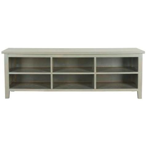 low profile bookshelves safavieh low 6 shelf bookcase in ash gray amh6525b the home depot