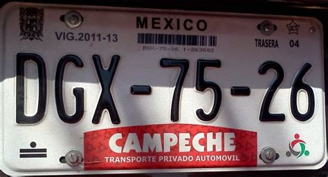 placas del estado de mexico placas de autos de m 233 xico y otras cos 999 as ceche