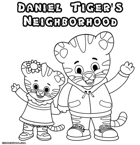 coloring pages daniel tiger daniel tiger coloring pages coloring pages to
