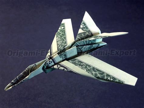 Army Origami - f 15c strike eagle jet fighter money vincent the artist
