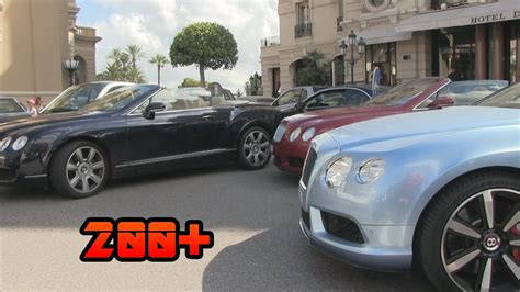 bentley monaco 200 bentleys in monaco bentley madness youtube