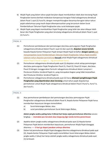 syarat dan tata cara memperoleh surat keterangan bebas pajak