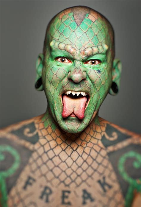 lizard man tattoo the lizard