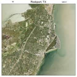 aerial photography map of rockport tx
