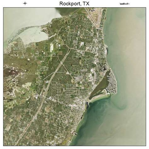 rockport texas map aerial photography map of rockport tx texas