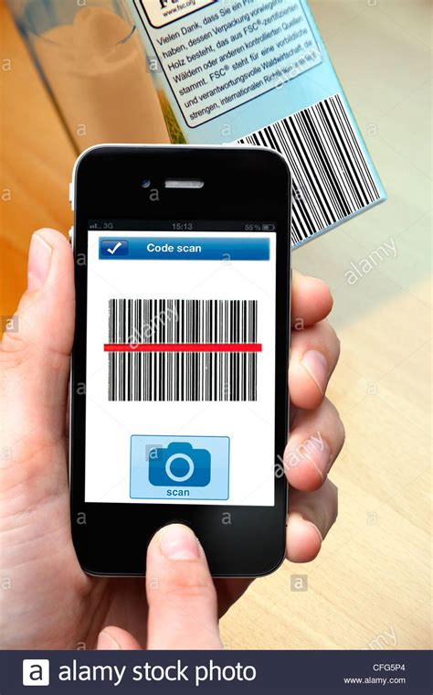 read mobile mobile phone smart phone pda i phone with a barcode