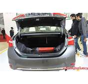 New Toyota Corolla Altis Pics Boot Space  MotorBashcom