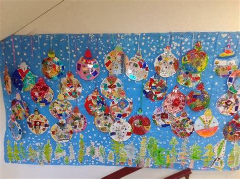 aula de infantil mural de navidad