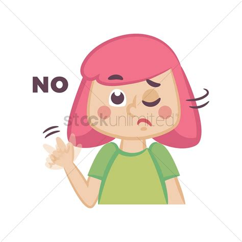 Why Characters Say No 2 by Saying No Vector Image 1955508 Stockunlimited