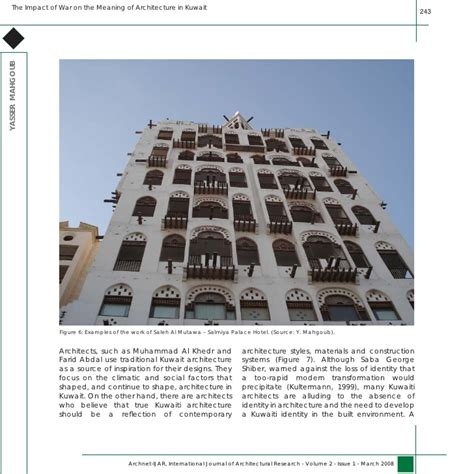 architectural design journal impact factor the impact of war on the meaning of architecture in kuwait