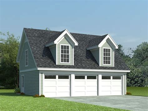 3 Door Garage Plans by 3 Car Garage Loft Plan 006g 0087 With Shed Dormers A