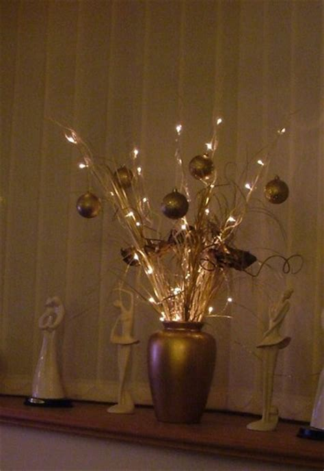 Vase With Twigs And Lights by Image Gallery Twig Lights