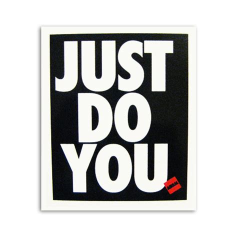 Do You by Just Do You Vinyl Sticker Decal By Aireal Apparel 1 00