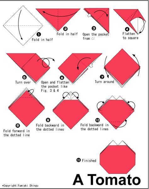Origami Tomato - tomato easy origami for