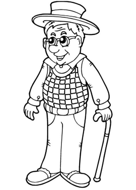grandfather coloring pages coloring page for kids
