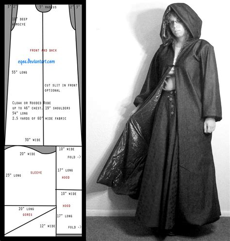 design a cape pattern slim cloak by eqos on deviantart
