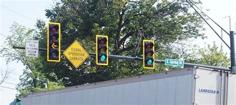 Traffic Search Miami New Traffic Signal And Intersection Improvements At High Use Intersection Complete