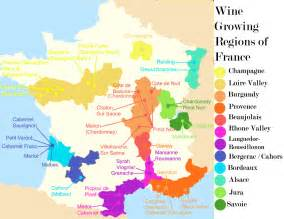 France Wine Map by France Wine Map Recana Masana