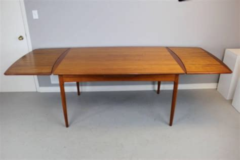 built in dining table rare hans wegner teak dining table with two built in