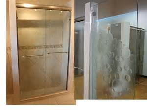 Glass Showers Doors Etched Glass Shower Doors