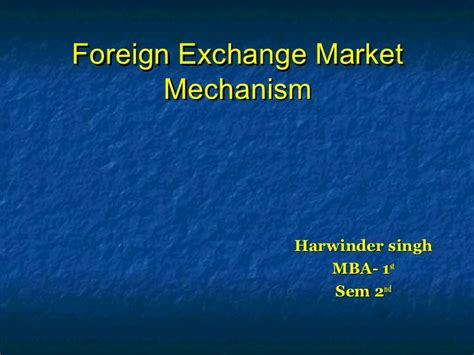 International Exchange Mba Programs by Foreign Exchange Market 1230373682311454 2