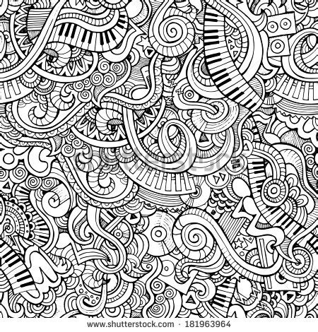 notebook doodle pattern music doodles stock images royalty free images vectors
