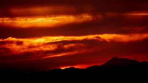 dramatic background 4k beautiful scenic dramatic fiery orange sunset sky