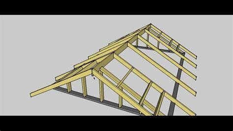 gable roof erection procedure youtube
