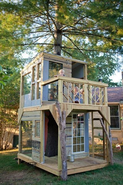 two floor tree house design inspiring diy backyard ideas