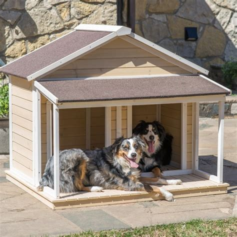 wooden dog house with porch 34 doggone good backyard dog house ideas