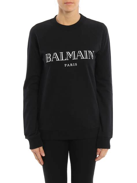Lettering Sweatshirt logo lettering cotton sweatshirt by balmain sweatshirts