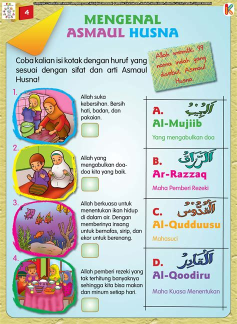 99 Kisah Mukjizat Asmaul Husna Seri Buku Anak Islam Colour buku aktivitas anak shaleh halaman6 ebook anak