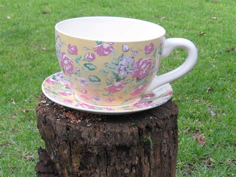 Tea Cup Flower Pot Planter Gardening Supplies Tea Cup Planter