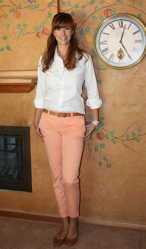 colored khaki colored khakis and white button style