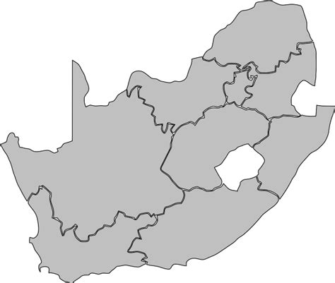 south africa map outline blank map of south africa