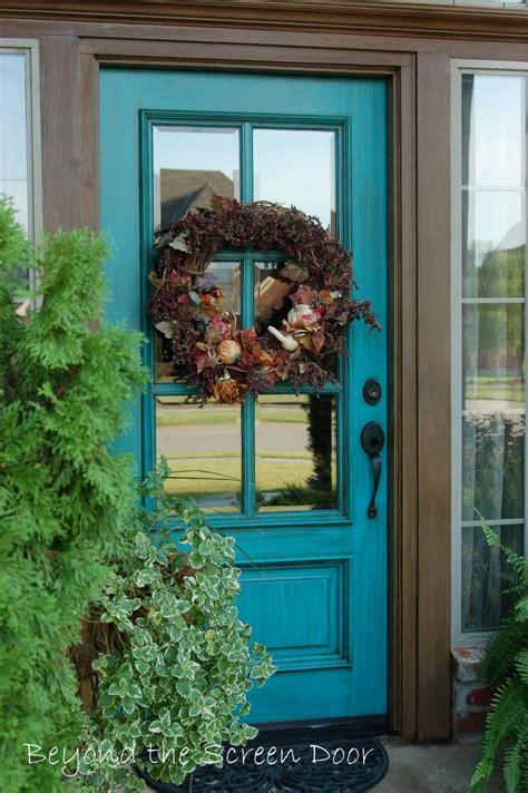 Beyond The Front Door Best 25 Turquoise Front Doors Ideas On Turquoise Door Post Box For Front Door And