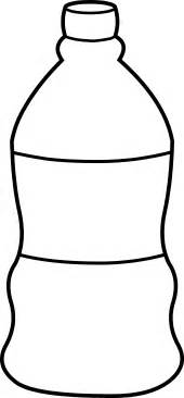 bottle template water bottle line free clip