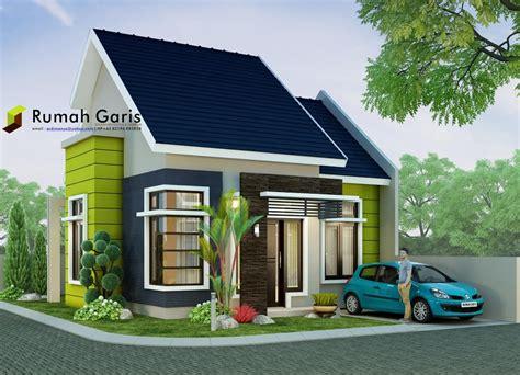 rumah minimalis modern tipe   lahan sudut  meter rumah garis