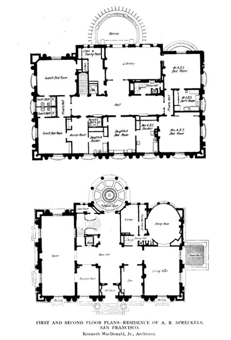 gilded age mansions floor plans beyond the gilded age the adolph b spreckels residence