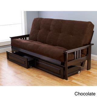 futon deal somette beli mont espresso full size wood storage futon