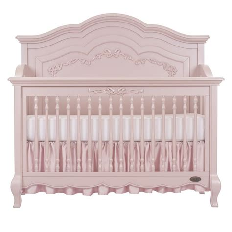 Pink Cribs by Evolur 5 In 1 Convertible Crib In Blush Pink Pearl