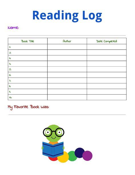 printable children s reading log printable reading log for kids building our story