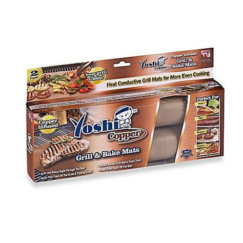 bed bath and beyond grill yoshi copper grill and bake mats set of 2 bed bath beyond