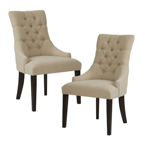 Tufted Back Dining Chair Park Corbel Tufted Back Dining Chair Set Of 2 Ebay