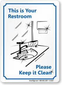 bathroom courtesy keep bathroom clean signs